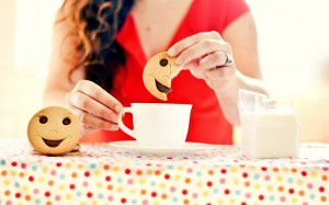 girl-mug-tea-cookies-smile-hd-wallpaper